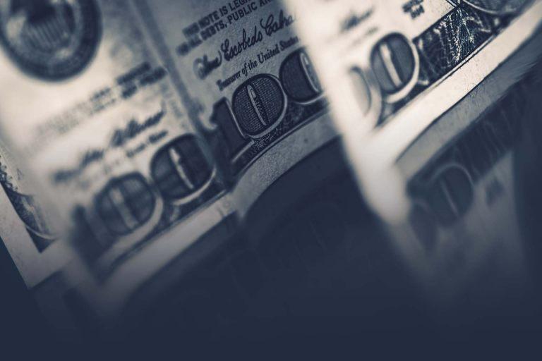 Dollars Cash Money Closeup